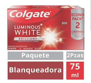 Amazon: Colgate Luminous Pasta Dental White, 75 ml, Paquete de 2 Piezas