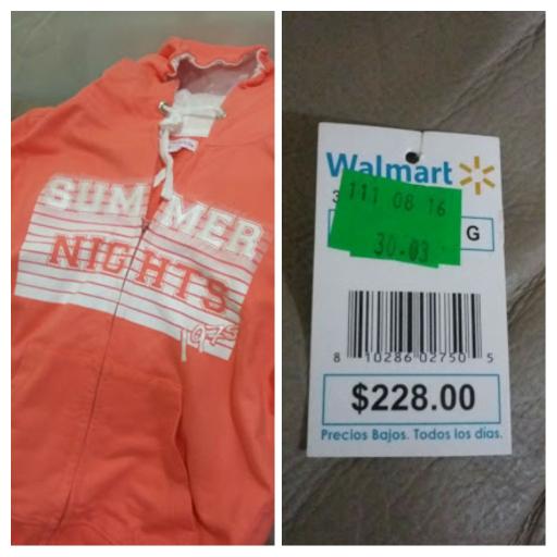Walmart: sudadera a $30.03