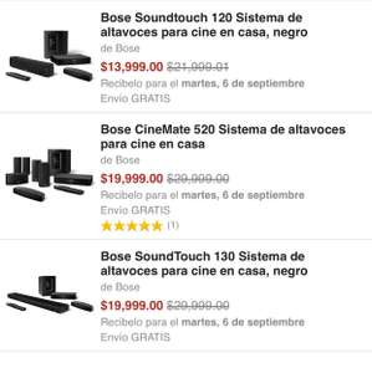 Amazon: teatro en casa Bose con 30% de descuento