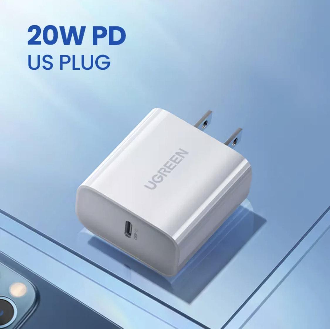 AliExpress: Cargador UGREEN 20 W Carga Rápida USB-C