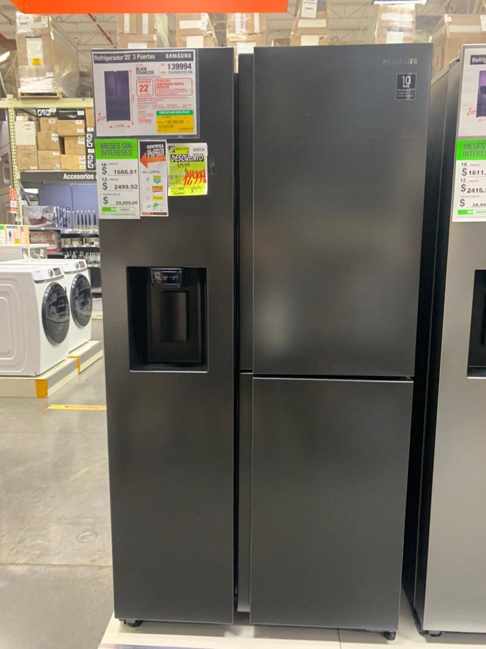 Home Depot Tecámac: refrigerador Samsung 22 liquidación
