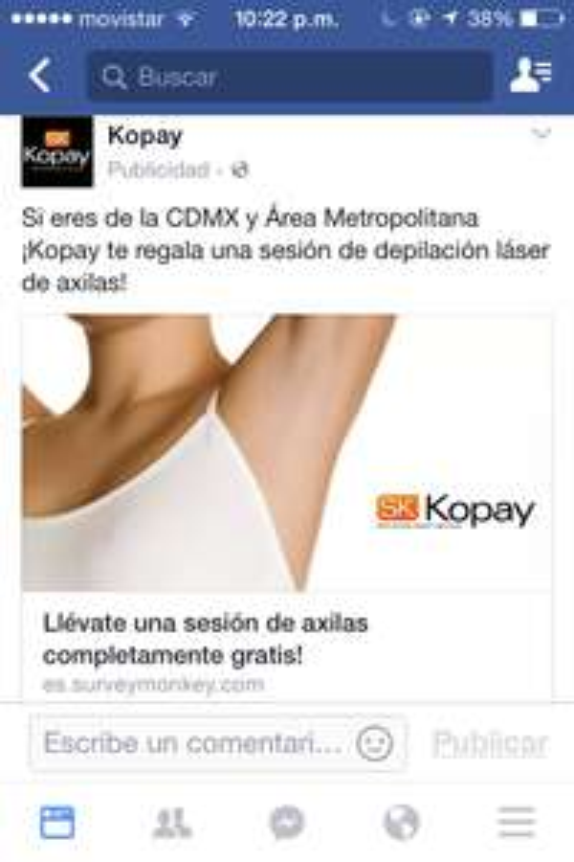KOPAY: GRATIS DEPILACION LASER DE AXILAS CDMX