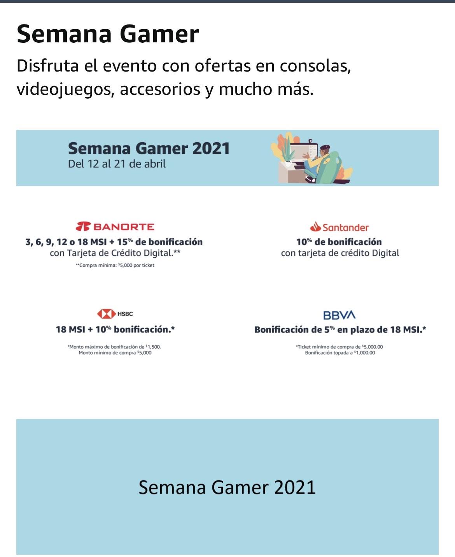 Amazon: Semana Gamer 2021