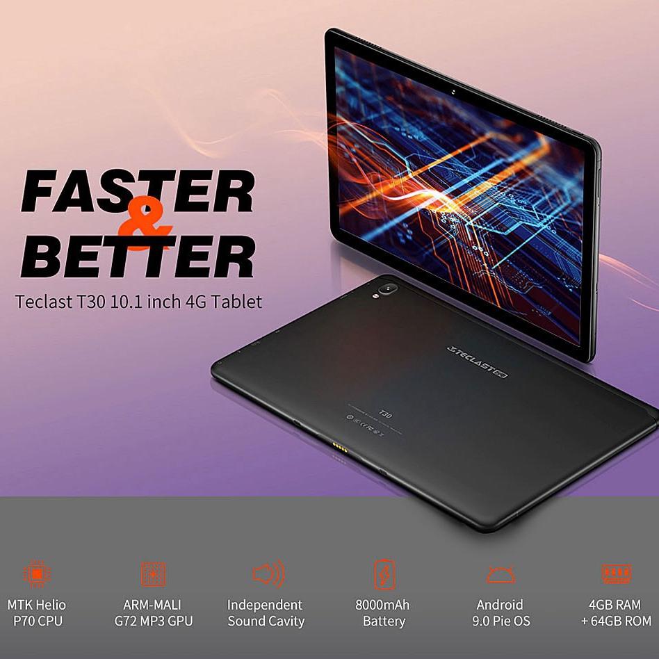 "Banggood: Teclast T30 MTK Helio P70 4GB/64GB 8000mAh Dual-band 5G+2.4G 10.1"" Android 9.0"