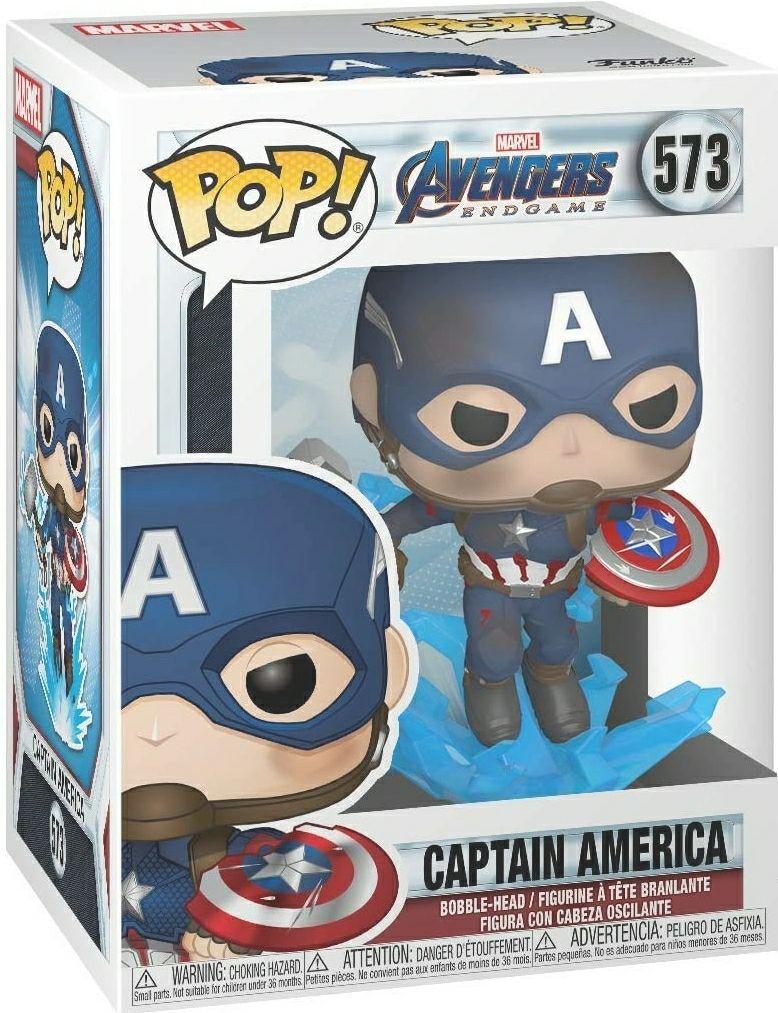 Amazon: Funko - Pop! Marvel: Avengers Endgame - Captain America with Broken Shield & Mjoinir Figurina de Colección