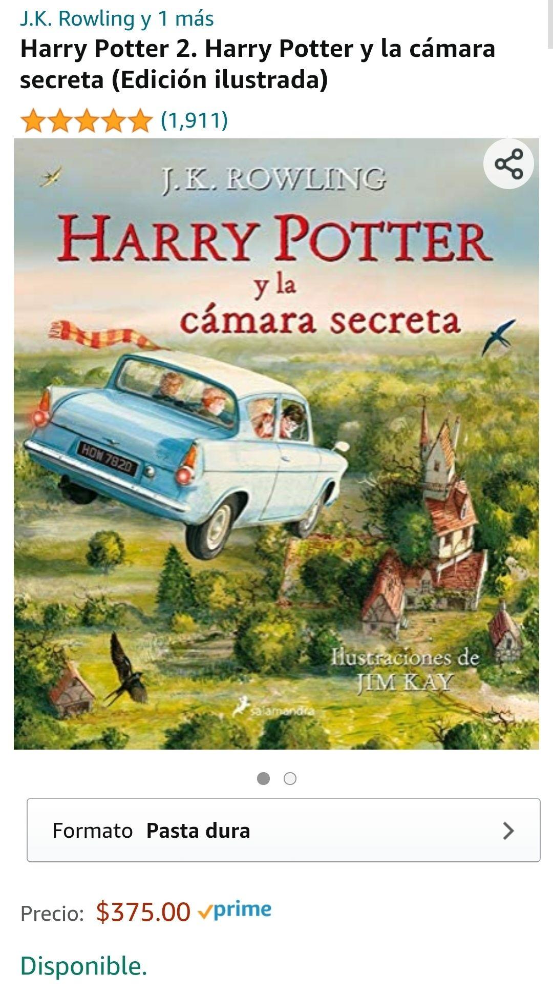 Amazon: Harry Potter 2. Harry Potter y la cámara secreta (Edición ilustrada)