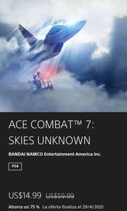 PS Store: Ace combat 7 Skies unknow