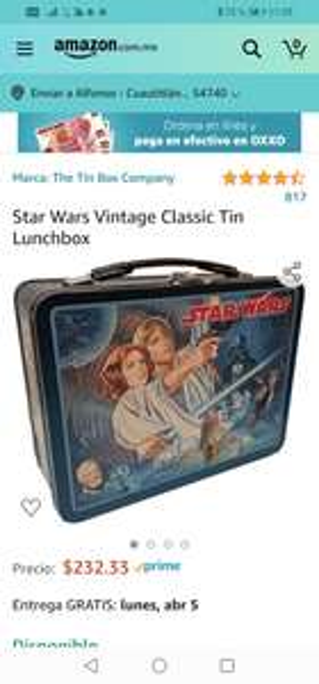 Amazon : Lonchera vintage star wars para llevar ala oficina.