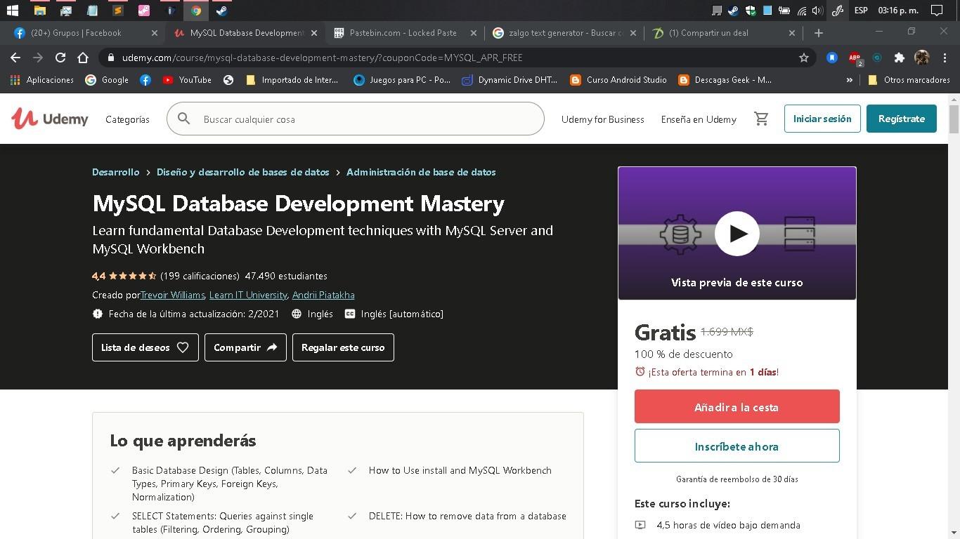 Udemy MySQL Database Development Mastery
