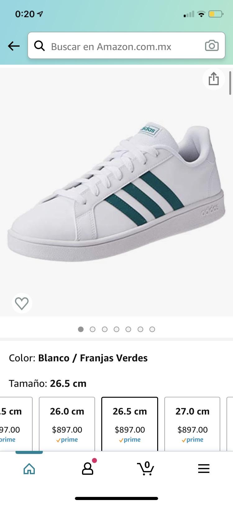 Amazon: Adidas Grand Court Base EE7905 Tenis para Hombre