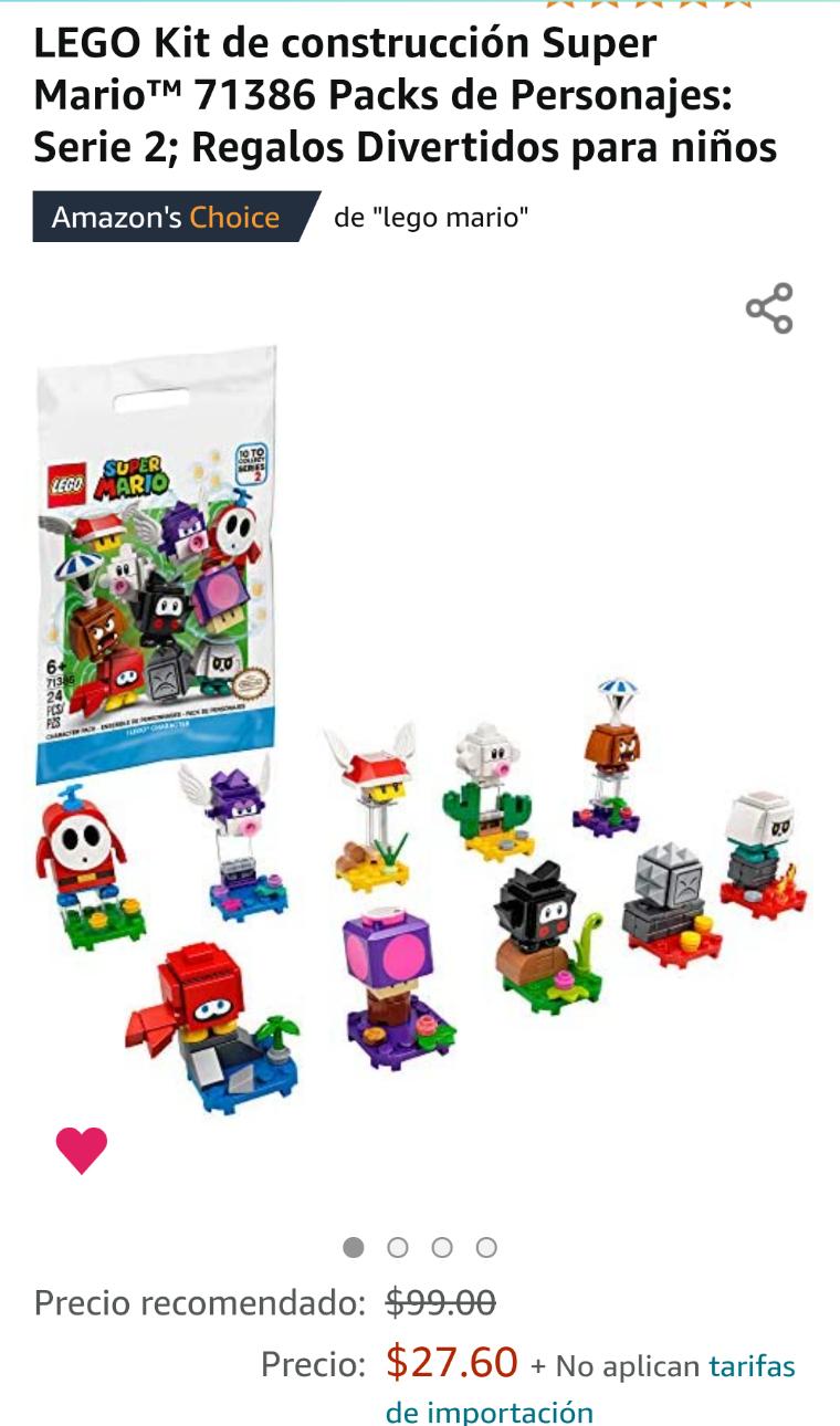 Amazon: LEGO Kit de construcción Super Mario™ 71386 Packs de Personajes: Serie 2