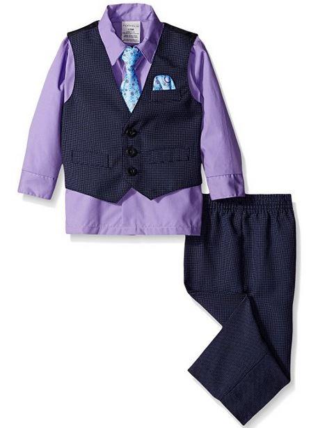 Amazon MX: Perry Ellis Baby Boys' Fine Pindot Vest Set