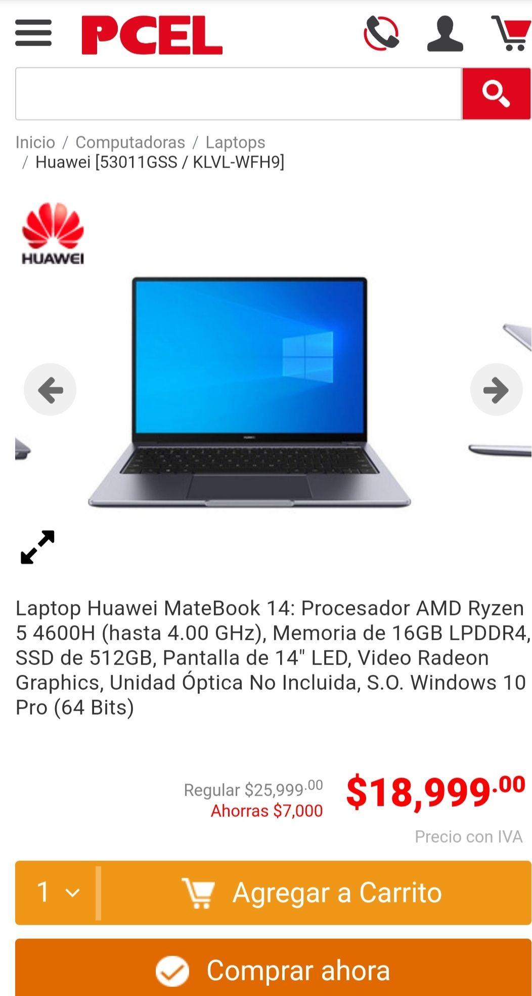 """Pcel: Laptop """"GAMING"""" Huawei MateBook 14"""""""