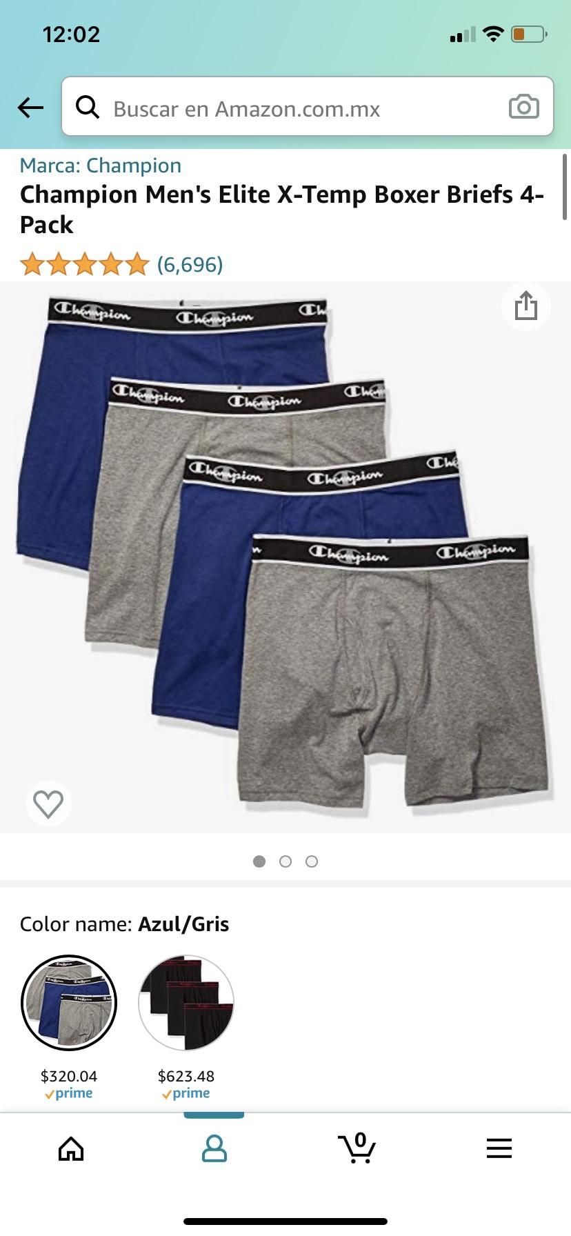 Amazon: Champion Men's Elite X-Temp Boxer Briefs 4-Pack