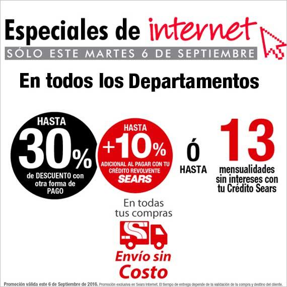 Sears: 30% + 10% ó 13 meses con crédito SEARS y ENVÍO GRATIS en toda la tienda