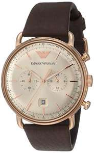 Amazon: Emporio Armani Men's Aviator Dress Watch