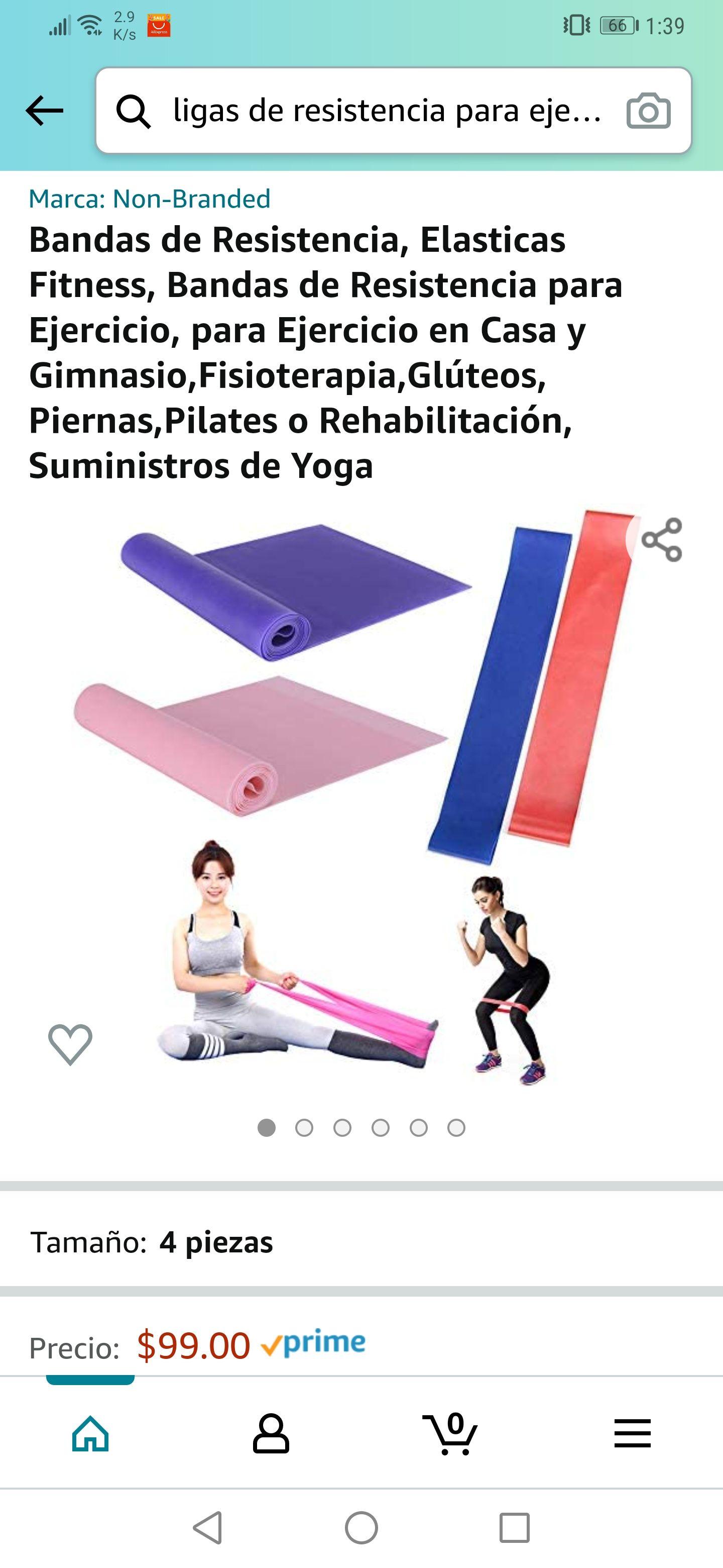 Amazon: Bandas de resistencia para ejercicio 4 piezas