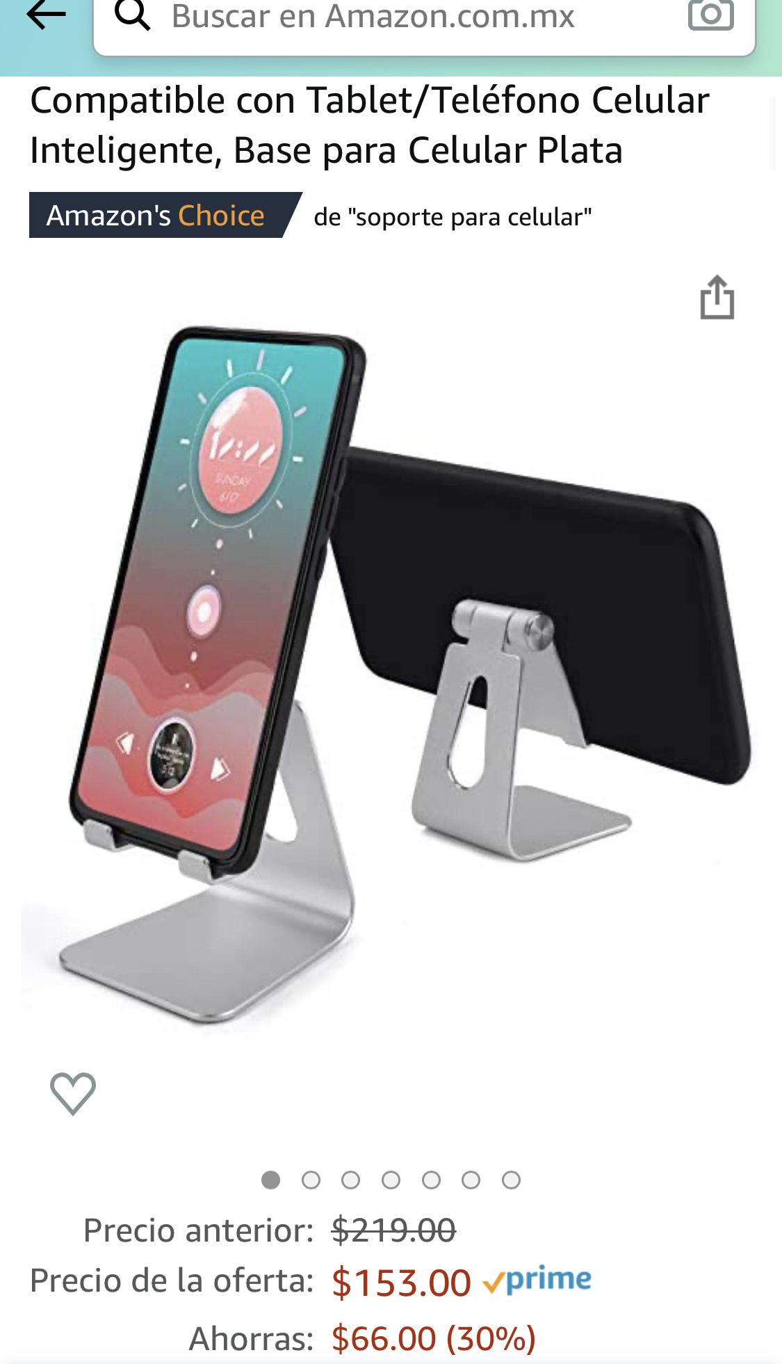 Amazon: Base / Soporte Universal para Celular o Tablet