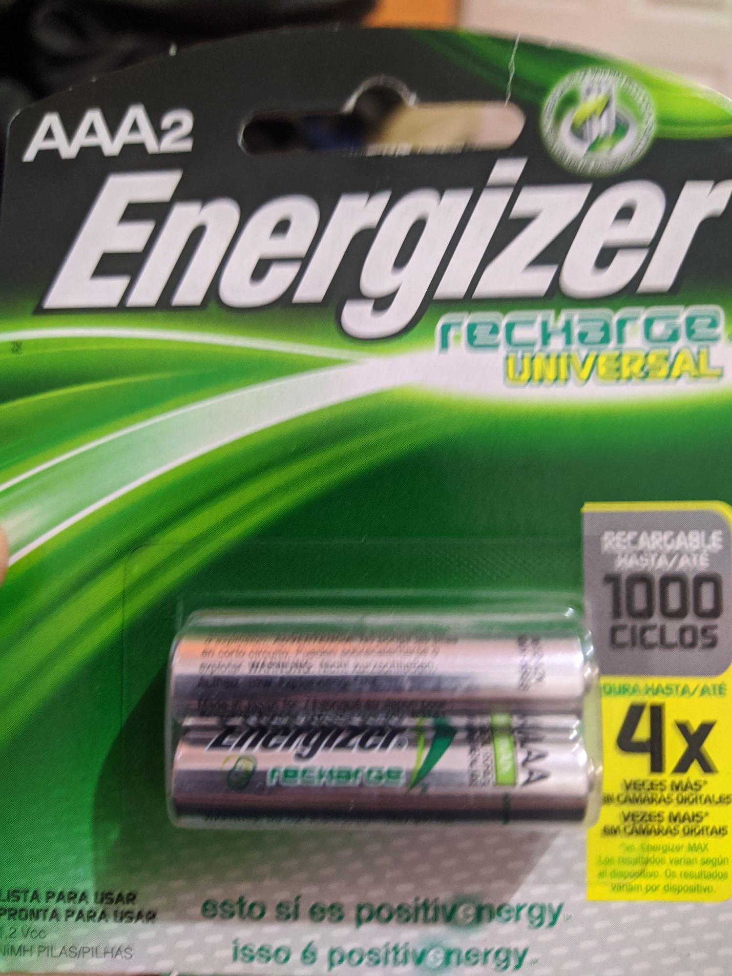 Soriana Hiper: Batería recargable AAA Energizer