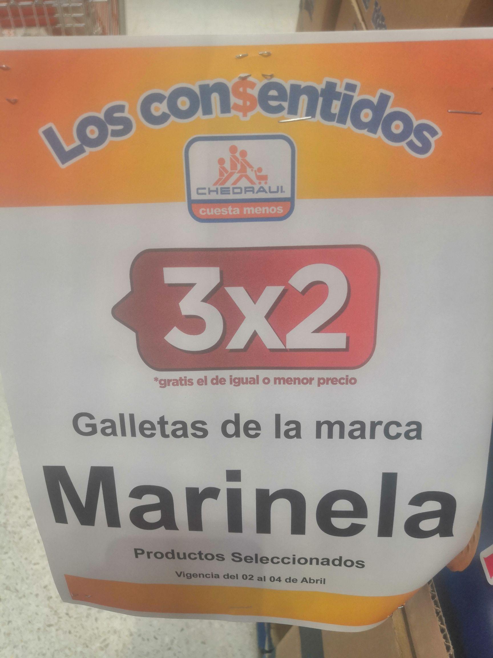 Chedraui: 3 x 2 en galletas Marinela