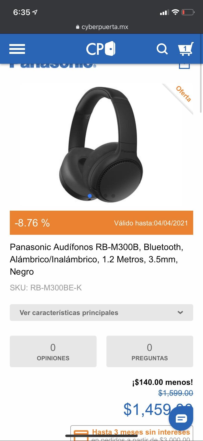 Cyberpuerta: Panasonic RB-M300B