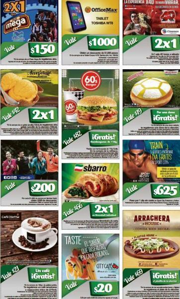 Cupones de 2x1 para La Feria de Chapultepec, Cinemex 4XD, Neve Gelato, Sbarro y más
