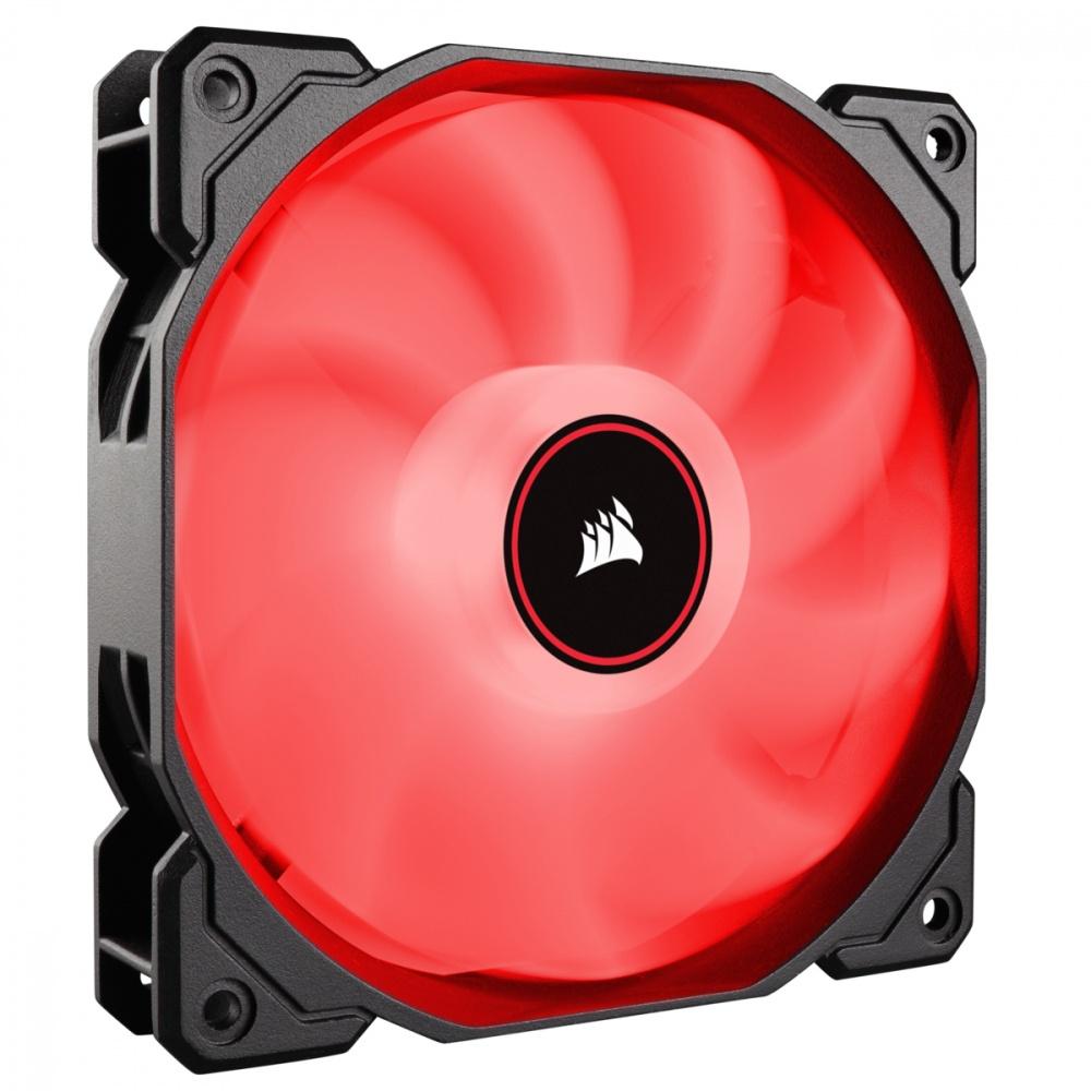 Cyberpuerta: Ventilador Corsair AF120 LED Rojo, 120mm, 1400RPM, Negro/Blanco