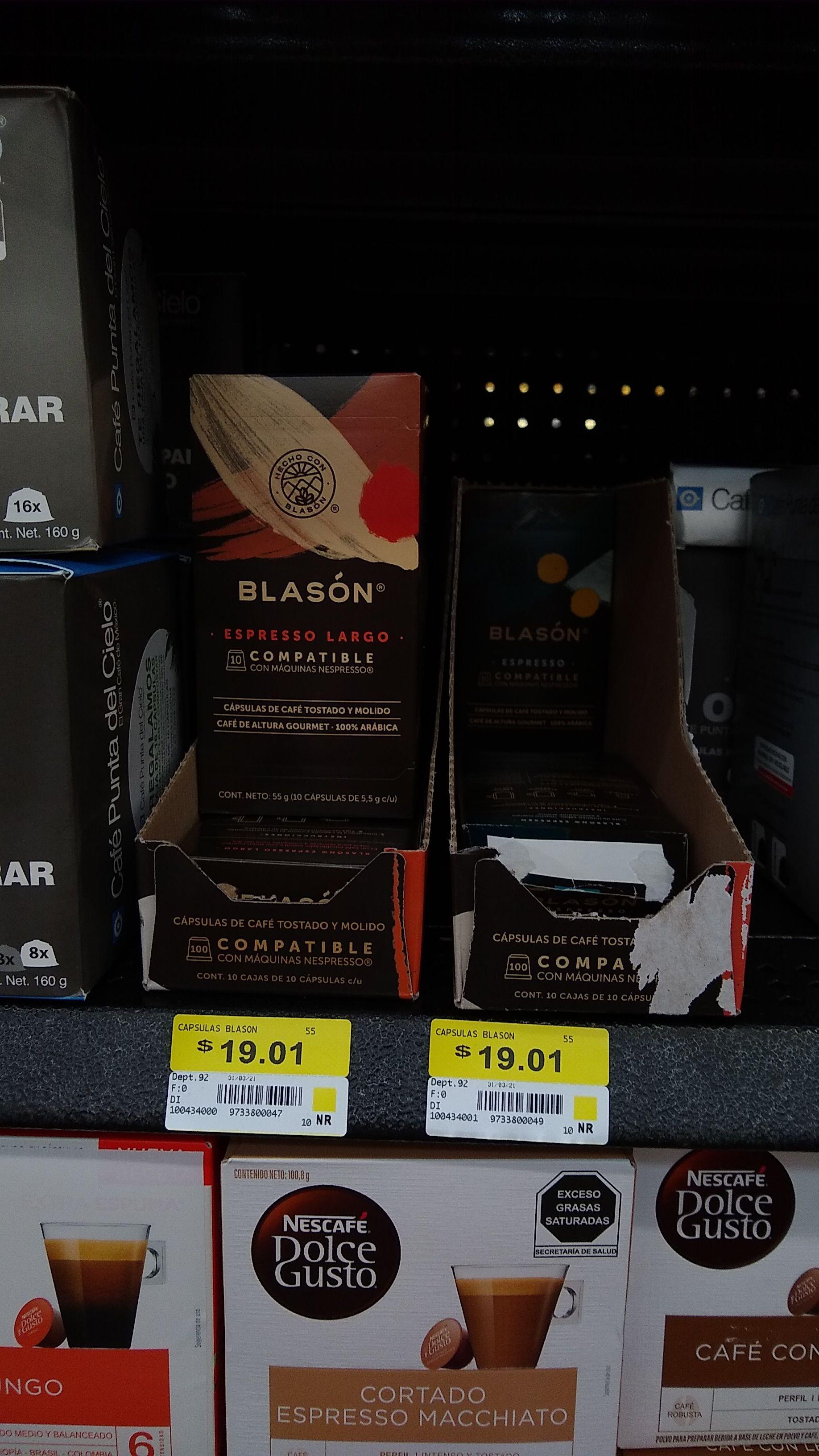 Cápsulas de café blasón 19.01 en Walmart