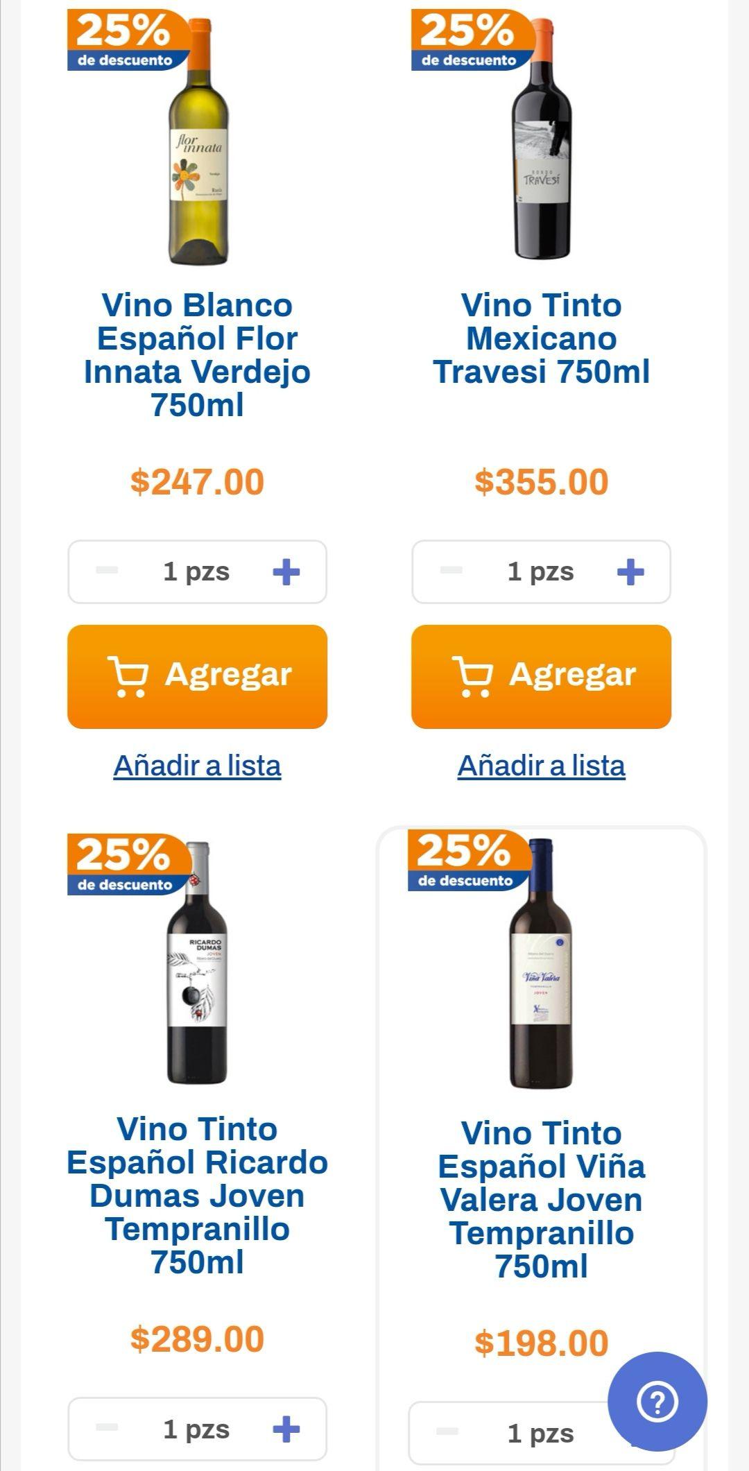 Chedraui: 25% y 20% de descuento en vinos tintos y blancos seleccionados