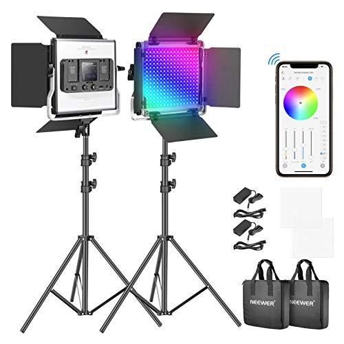 Amazon: Kit 2x Luz LED Neewer 660PRO RGB con pedestales