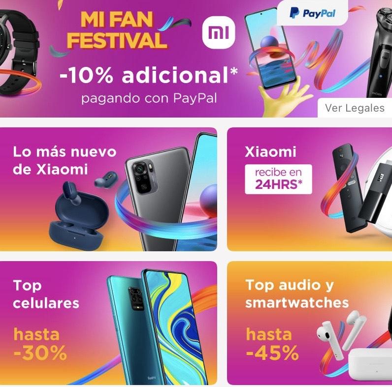 Linio: Mi Fan Festival PayPal -10% topado a $500