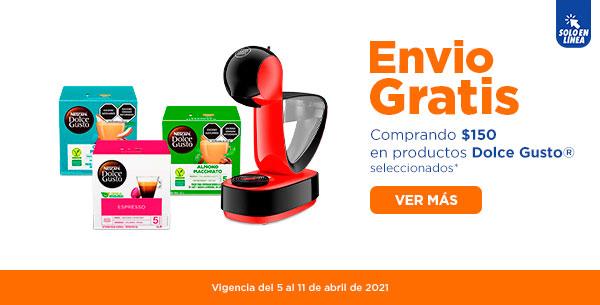 Chedraui: Envío gratis en super en la compra de $150 en productos Dolce Gusto seleccionados