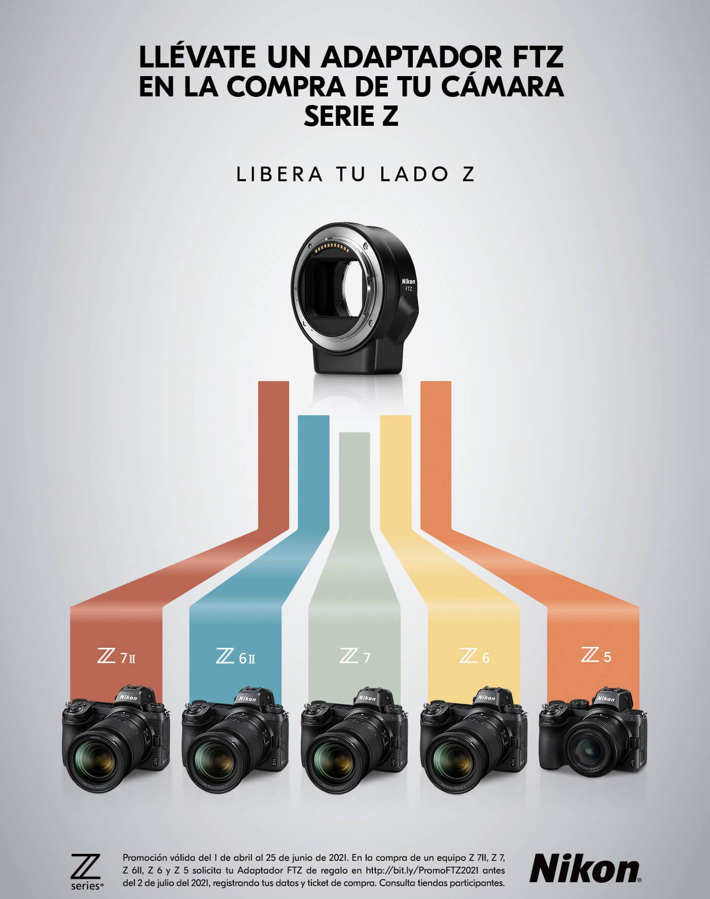 Nikon: Adaptador FTZ Gratis, al comprar una Camara Nikon Z
