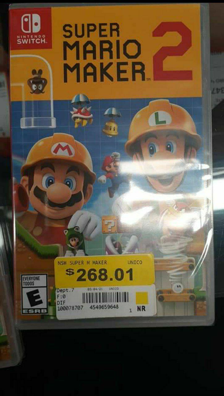 Walmart: Super Mario Maker 2 Nintendo Switch