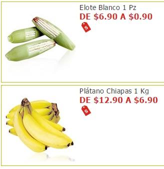 Soriana Híper y Súper: Elote Blanco $0.90 pza. y Plátano Chiapas $6.90 kg.