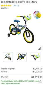Costco: Bicicleta R16 TOY STORY