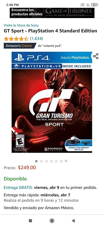 Amazon: Gran Turismo Sports