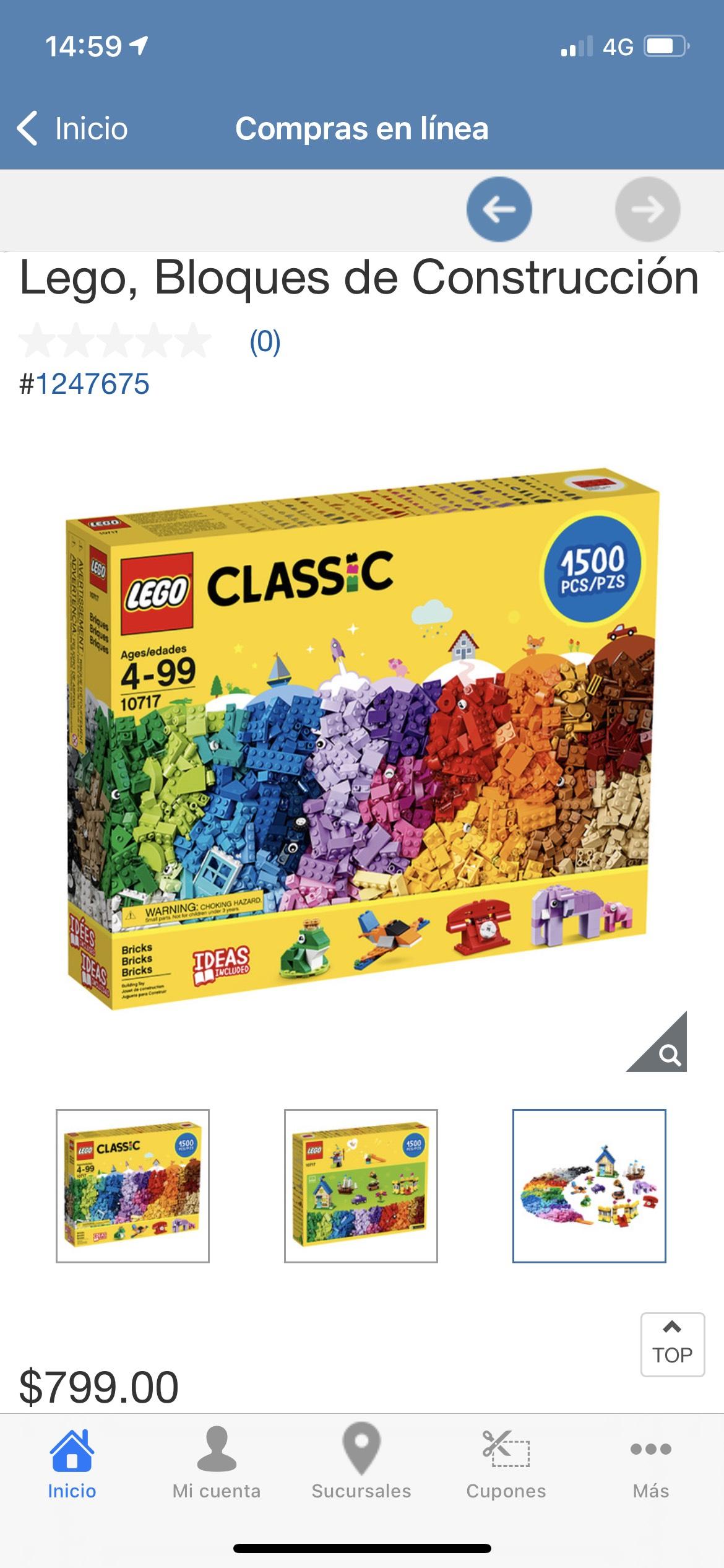 Costco: Lego Classic de 1500 piezas a $799
