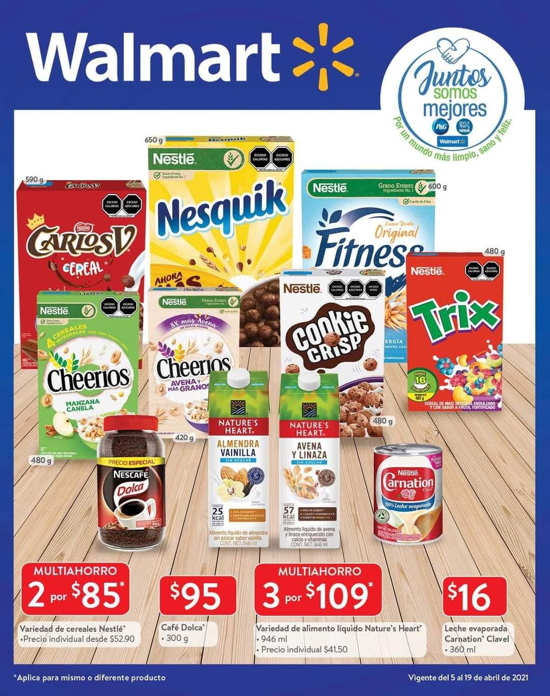 Walmart: Folleto de Ofertas Quincenal del Lunes 5 al Lunes 19 de Abril