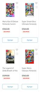 WALMART SUPER: 2 JUEGOS DE NINTENDO SWITCH POR 999c/u MARIO 3D WORLD