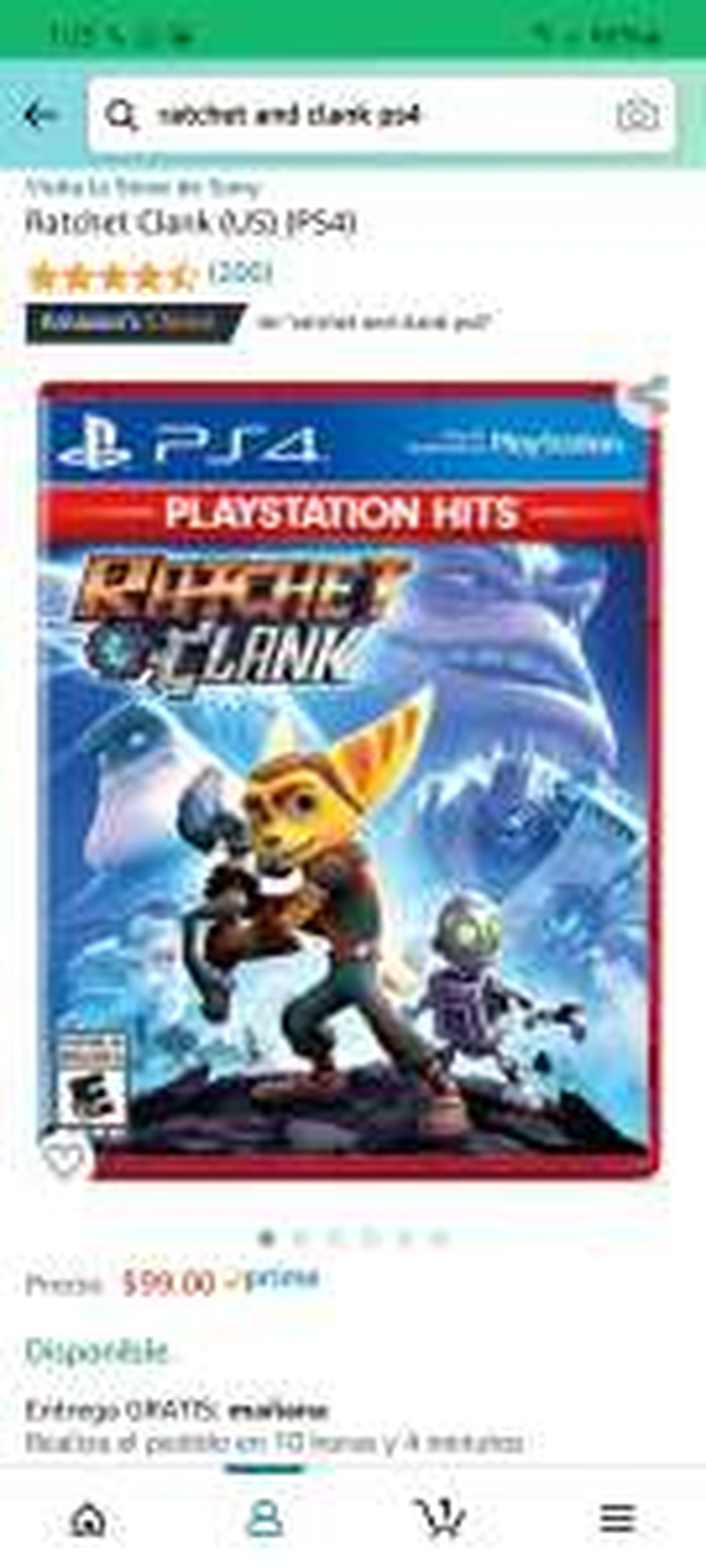 Amazon: Ratchet and clanck PS4 $99