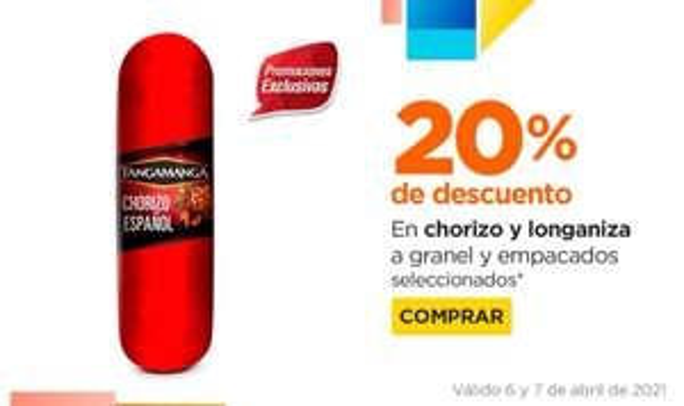 Chedraui: 20% de descuento en chorizos y longanizas a granel y empacados