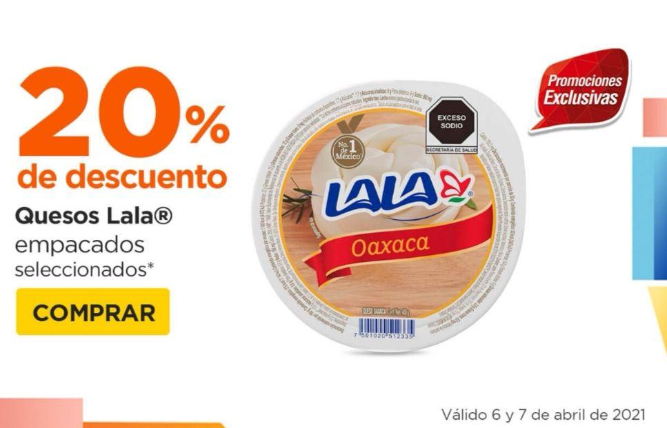 Chedraui: 20% de descuento en quesos Lala empacados seleccionados