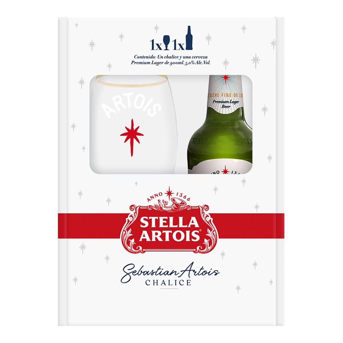 Chedraui: Cerveza Stella Artois 900ml más 1 Copa