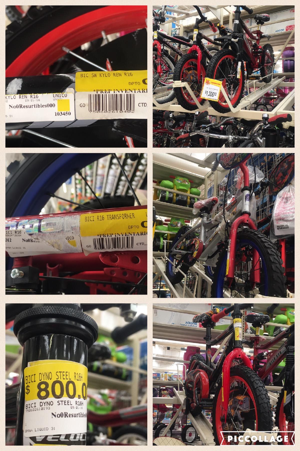 Walmart: liquidación bicicletas para niño