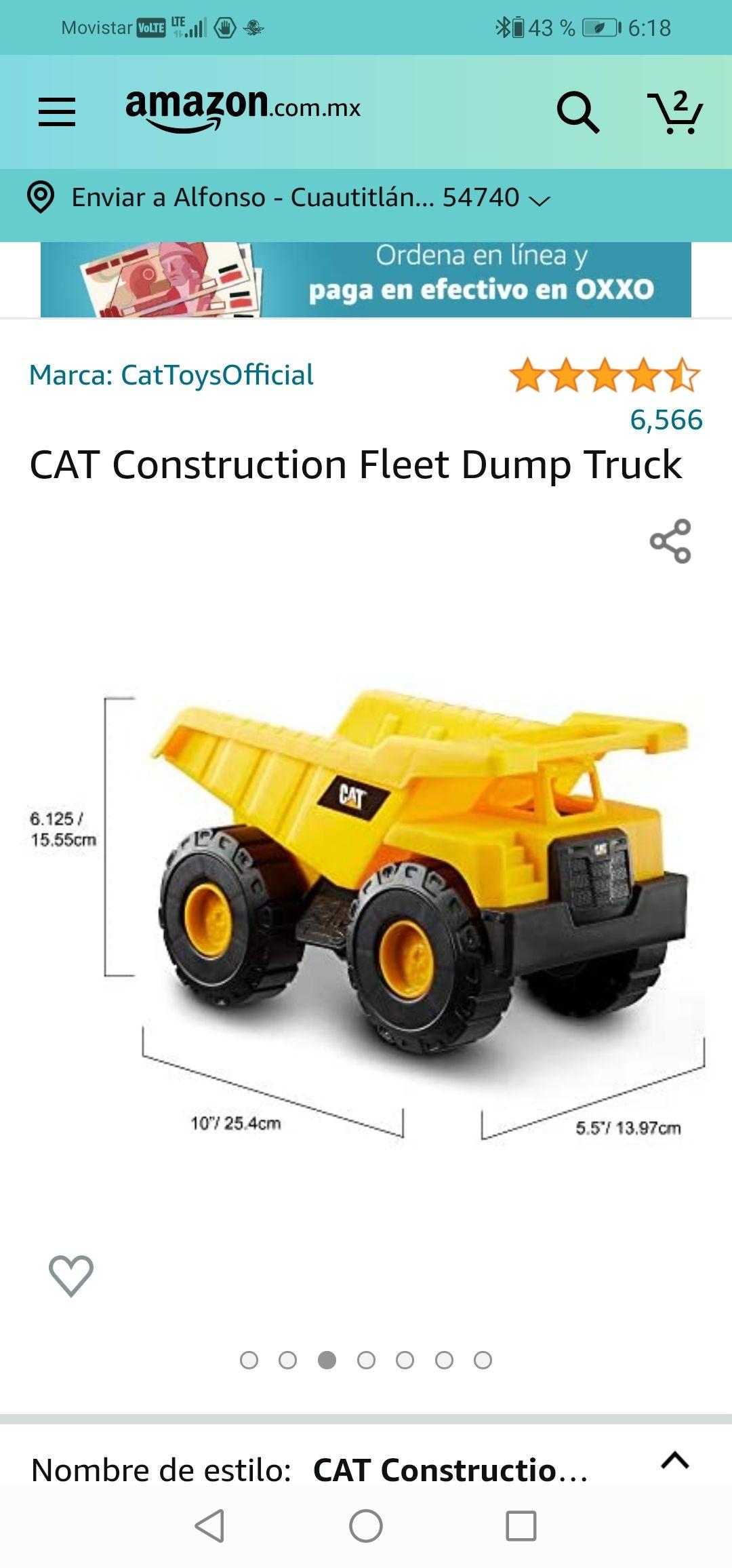 Amazon: CATConstruction Fleet Dump Truck