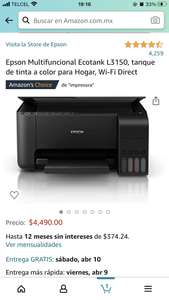 Amazon: Multifuncional espson con wifi direct