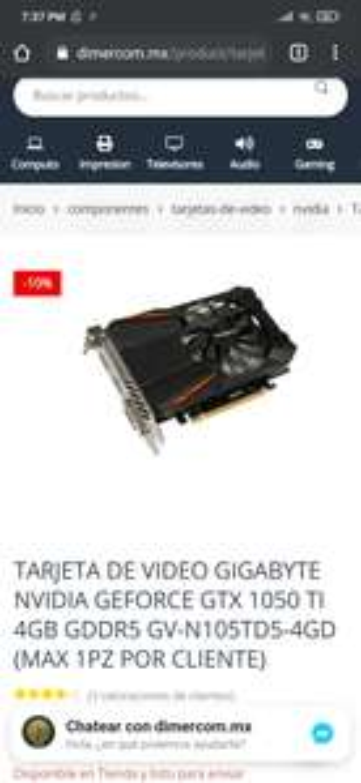 Dimercom: GIGABYTE NVIDIA GEFORCE GTX 1050 TI