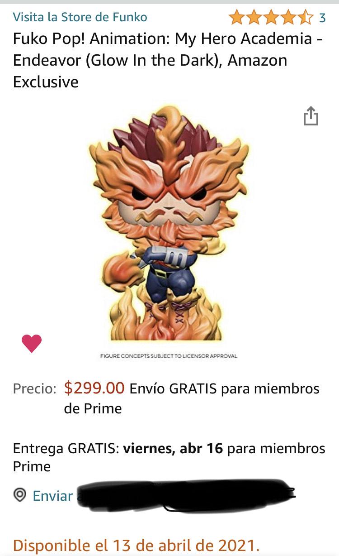 Amazon: Funko pop Endeavor Exclusivo de Amazon
