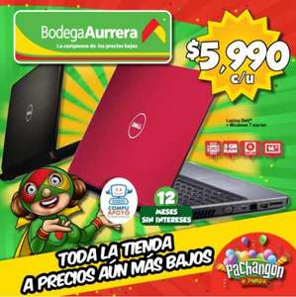 "Folleto Bodega Aurrerá: pantalla LG 37"" a $5,990, Xbox 360 $2,990 y más"